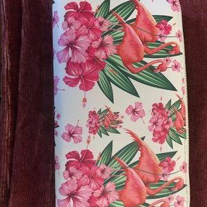Flamingo pink wallet